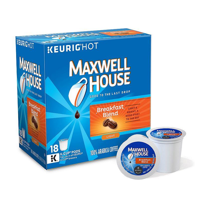 Keurig® K-Cup® Pod Maxwell House Breakfast Blend Light Roast Coffee - 18-pk.