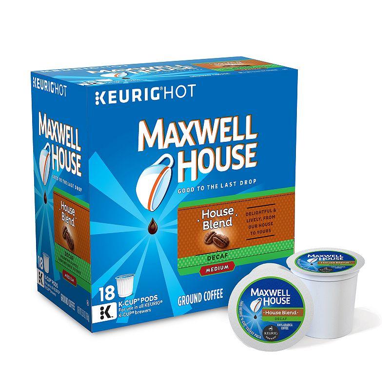 Keurig® K-Cup® Pod Maxwell House House Blend Decaf Medium Roast Coffee - 18-pk.