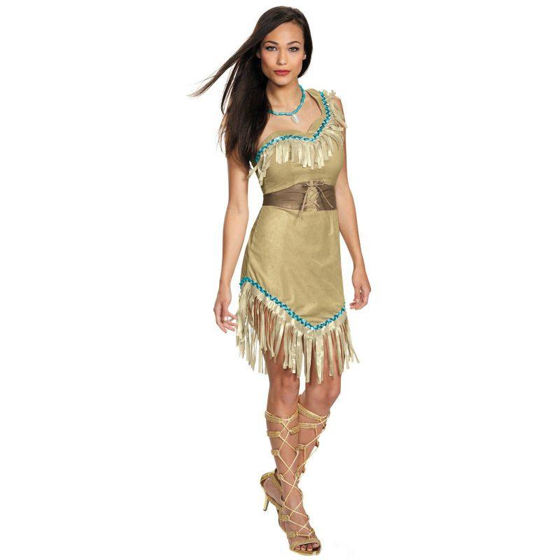 Disney Princess Pocahontas Deluxe Costume - Adult Plus (Brown/Beige)