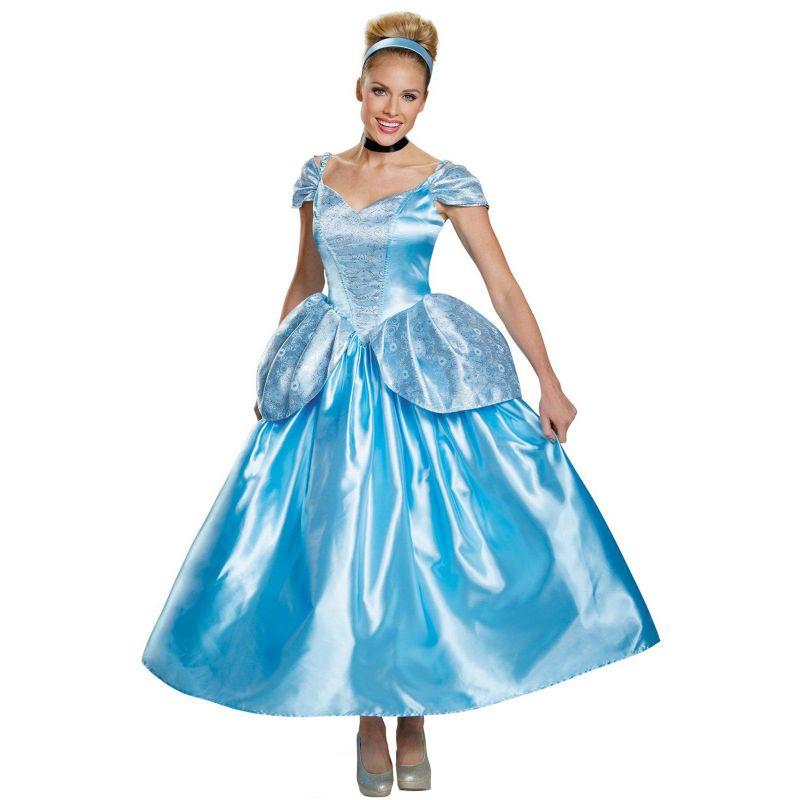 Disney Princess Cinderella Prestige Costume - Adult Plus (Blue)