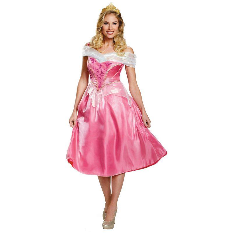 Disney Princess Aurora Deluxe Costume - Adult Plus (Blue)