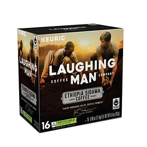 Keurig® K-Cup® Pod Laughing Man Ethiopia Sidama Light Roast Coffee - 16-pk.