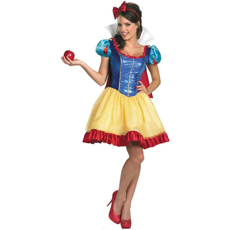 Disney Princess Snow White Fab Deluxe Costume - Adult Plus (Blue)