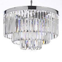 Gallery Retro Odeon Crystal 3-Tier Chandelier