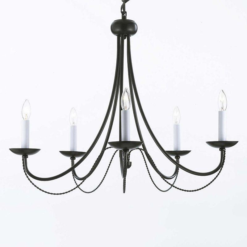 Gallery Versailles Wrought Iron 5-Light Chandelier