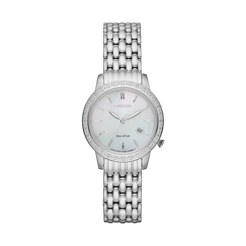 Citizen Eco-Drive Women's Diamond Stainless Steel Watch - EW2280-58D