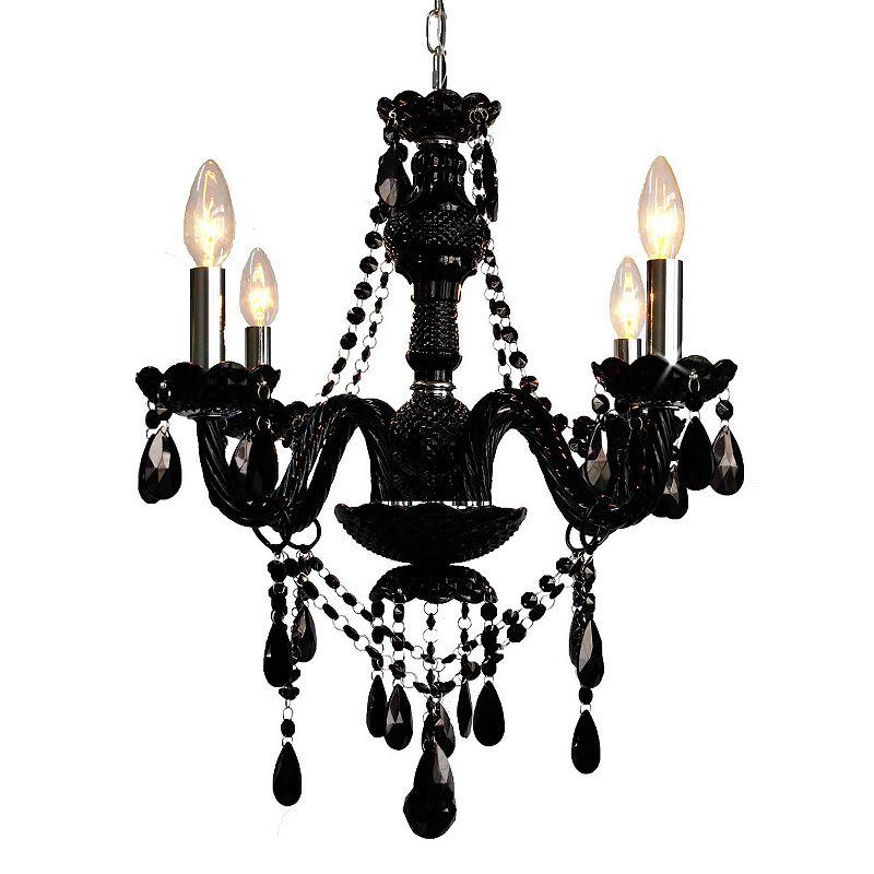 Gallery Venetian Style Crystal 4-Light Chandelier