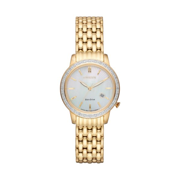 Citizen Eco-Drive Women's Diamond Stainless Steel Watch - EW2282-52D