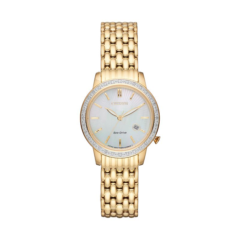 Citizen Eco-Drive Women's Diamond Stainless Steel Watch - EW2282-52D