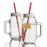 Style Setter 2-pc. Mason Jar Mug Set