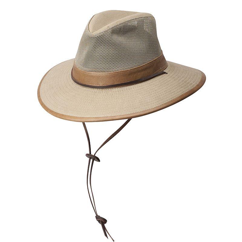 Leather-Trim Safari Hat - Men
