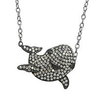 Animal Planet Sterling Silver Crystal Porpoise Necklace