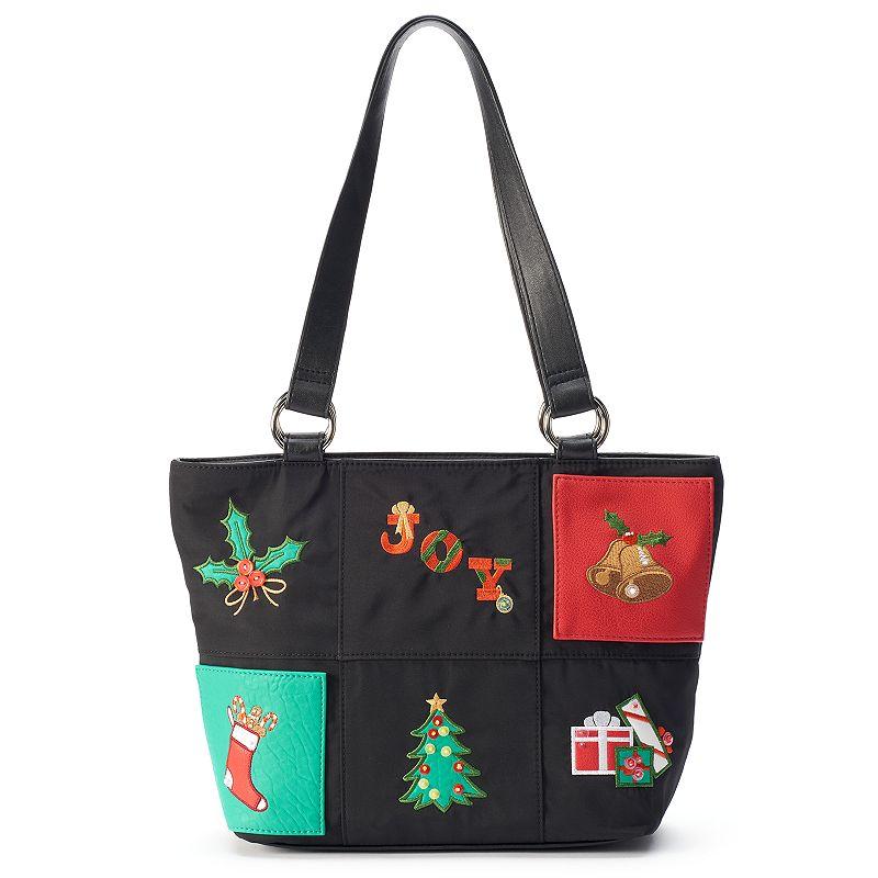 Rosetti Holiday Patchwork Shopper