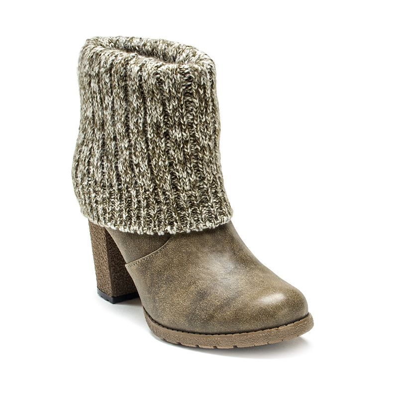 MUK LUKS Chris Women's Sweater Cuff Ankle Boots
