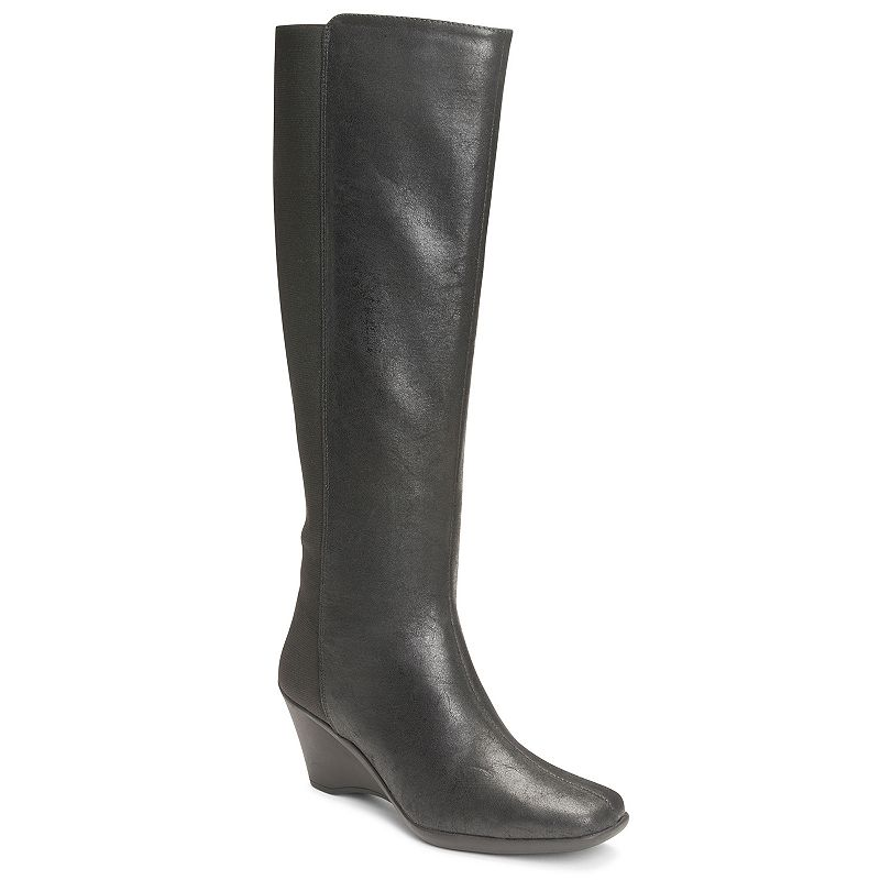 A2 by Aerosoles Taekwondo Women's Knee-High Wedge Boots