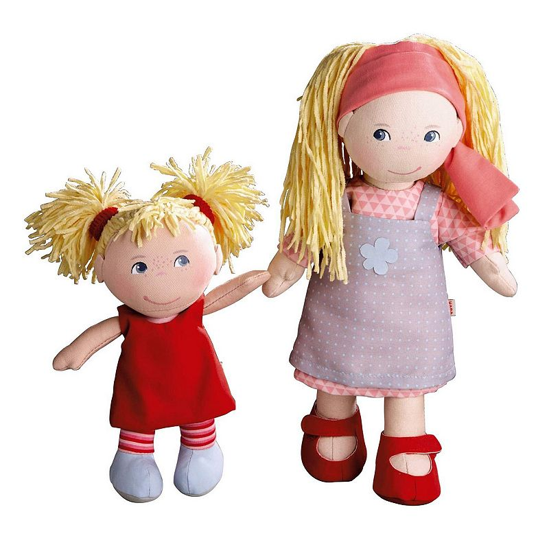 HABA Sisters 12-in. Lennja & 8-in. Elin Dolls