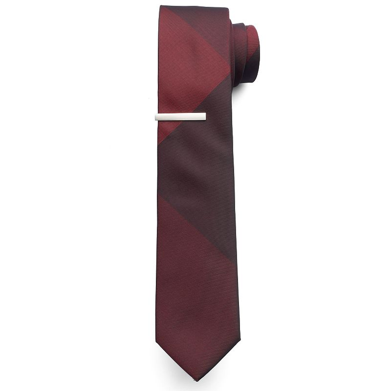Apt. 9 ® Amos Colorblock Skinny Tie & Tie Bar Set - Men