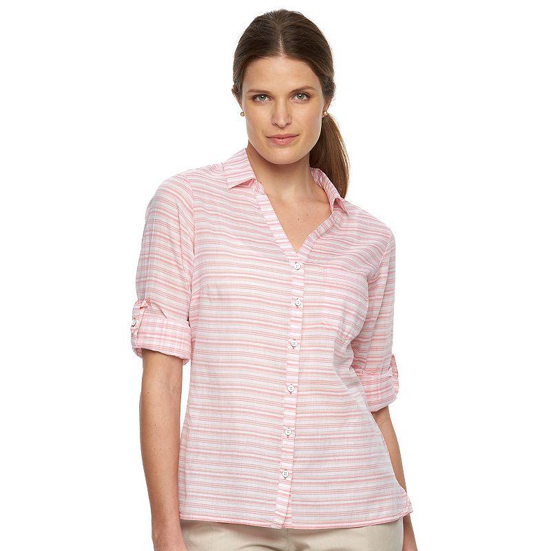 Women's Columbia Wiley Mesa Striped Roll-Tab Shirt