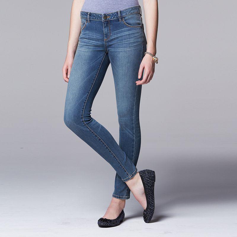 Women's Simply Vera Vera Wang Faded Super Skinny Jeans