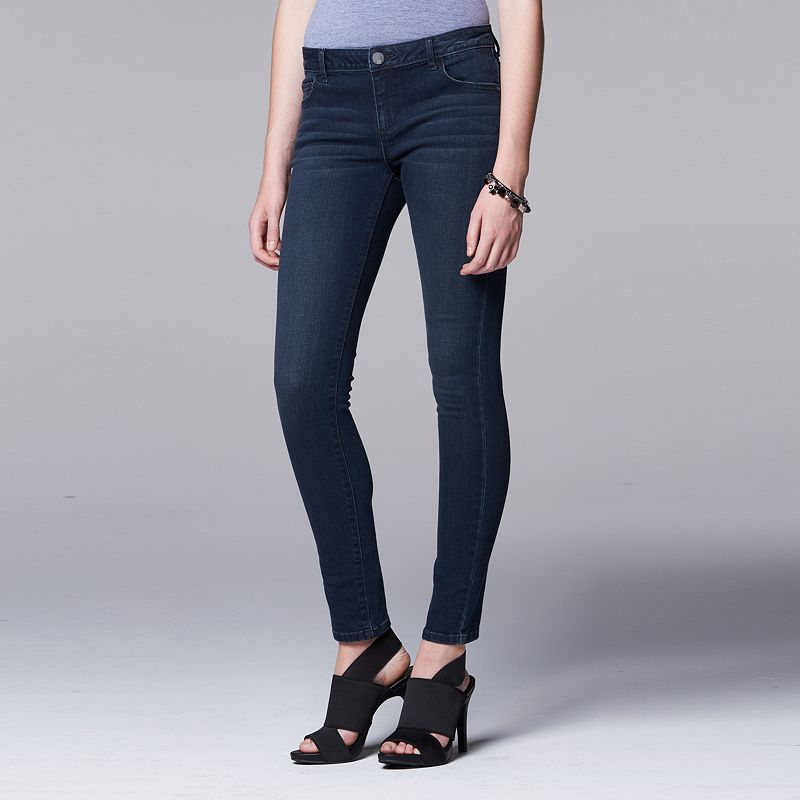 Women's Simply Vera Vera Wang Faded Super Skinny Jeans