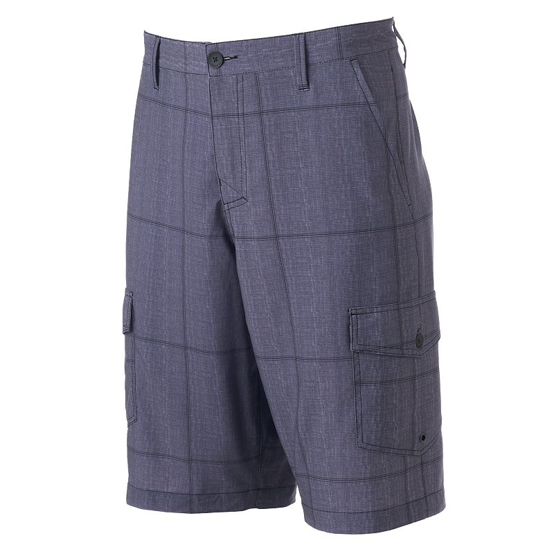 Men's Tony Hawk® Textured Plaid Hybrid Cargo Shorts