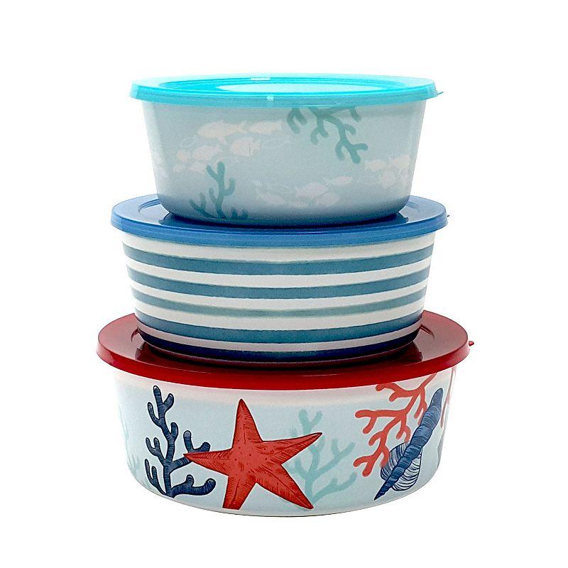Celebrate Summer Together Coastal 3-pc. Melamine Nesting Bowl Set