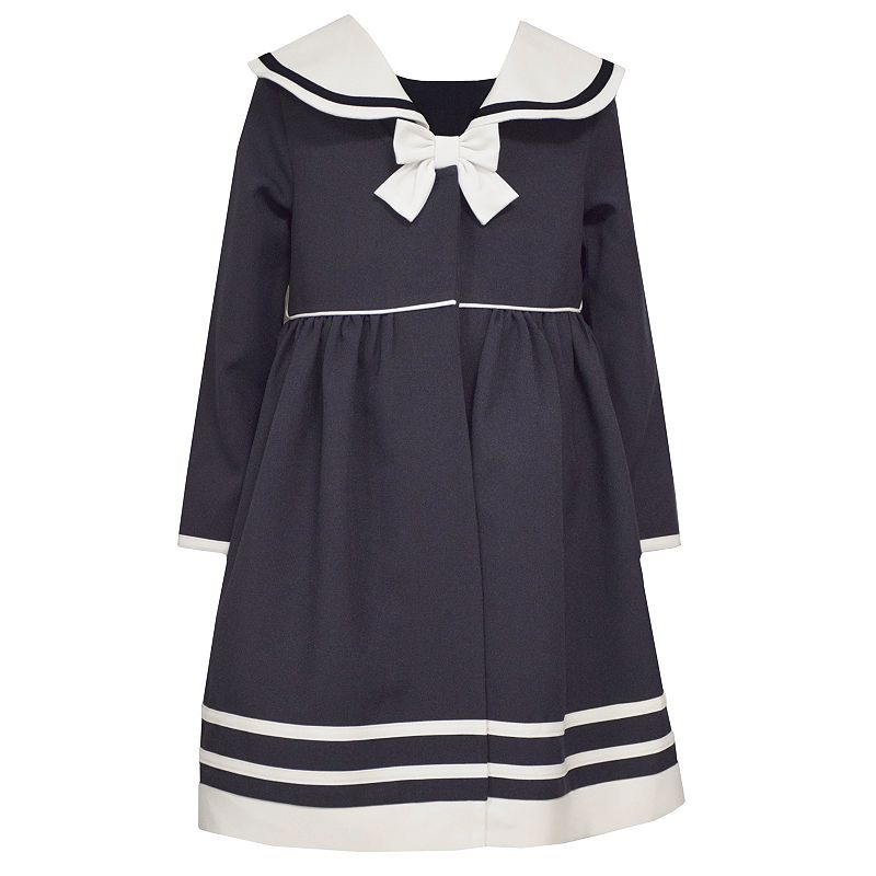 Toddler Girl Bonnie Jean Nautical Dress & Coat Set