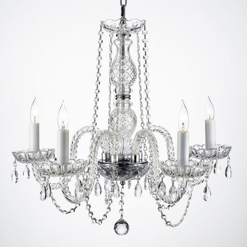 Gallery Venetian Style Swarovski Crystal 5-Light Chandelier