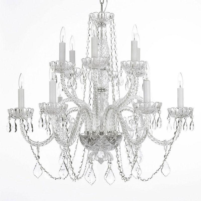 Gallery Venetian Style Swarovski Crystal 12-Light Chandelier
