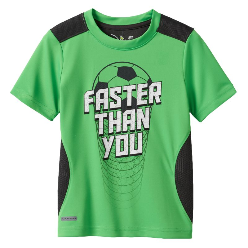Jumping Beans Sports Performance Tee - Toddler Boy, Size: 2T, Brt Green