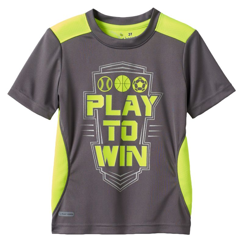 Jumping Beans Sports Performance Tee - Toddler Boy, Size: 2T, Grey