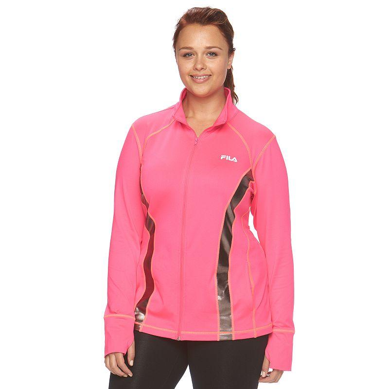 Plus Size FILA SPORT® Mockneck Workout Jacket