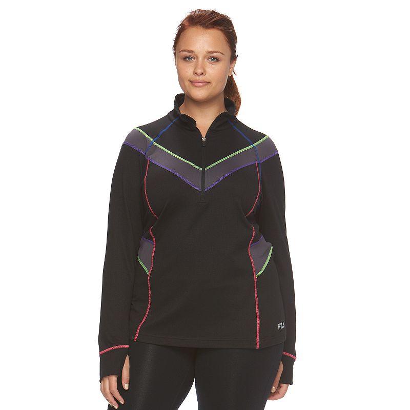 Plus Size FILA SPORT® Extreme Quarter-Zip Mockneck Jacket