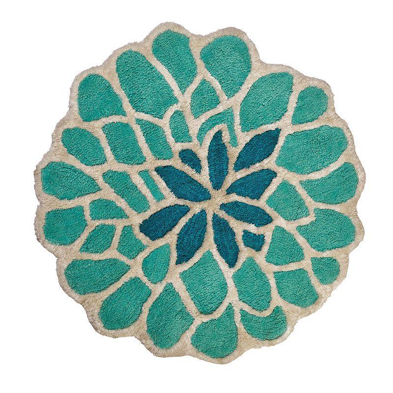India Ink Number 9 Floral Bath Rug