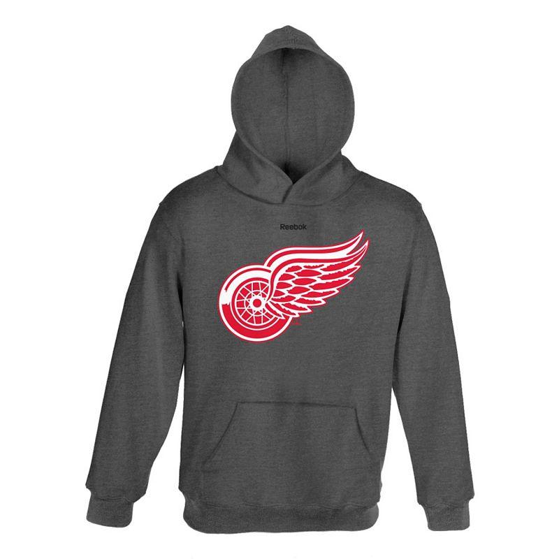 Boys 4-7 Reebok Detroit Red Wings Charcoal Hoodie