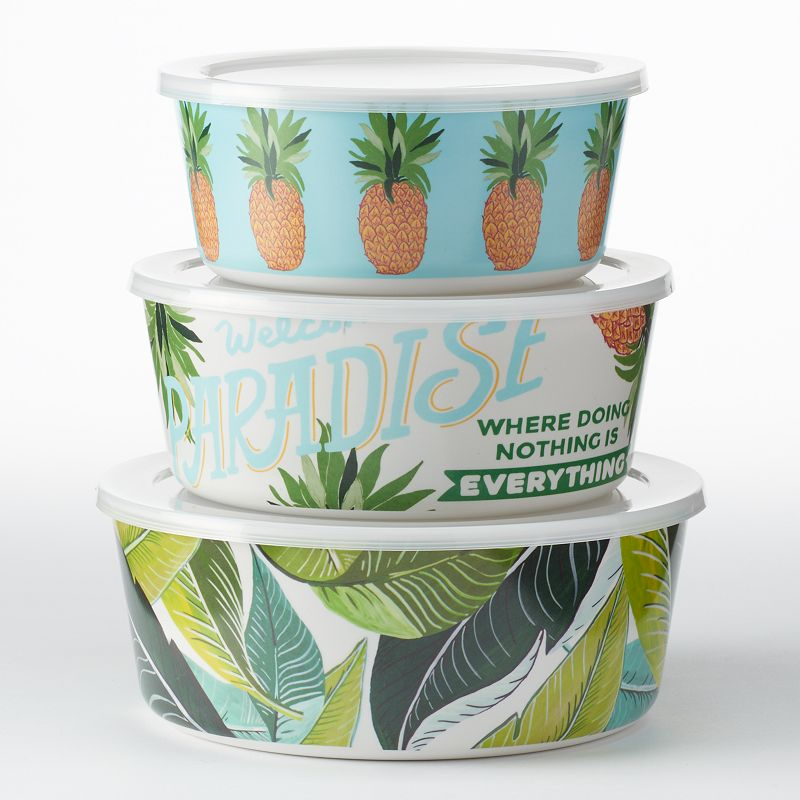 Celebrate Summer Together Palms 3-pc. Melamine Nesting Bowl Set