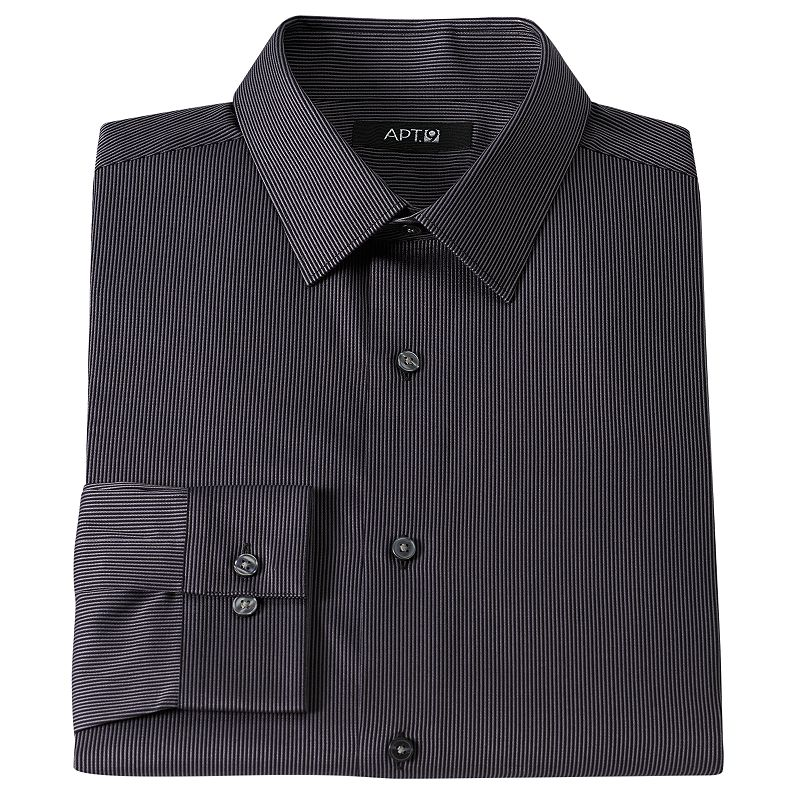 Men's Apt. 9® Slim-Fit Pinstripe Dress Shirt