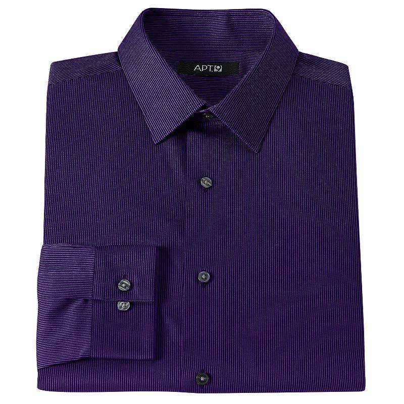 Men 39 s apt 9 slim fit pinstripe dress shirt dealtrend for Apartment 9 dress shirts