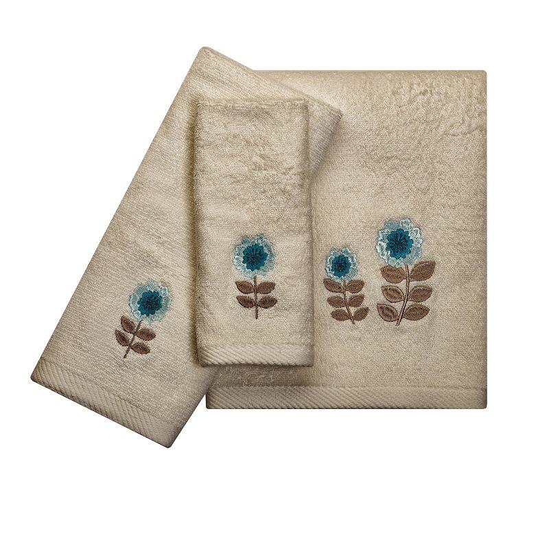 India Ink Number 9 Floral Bath Towels