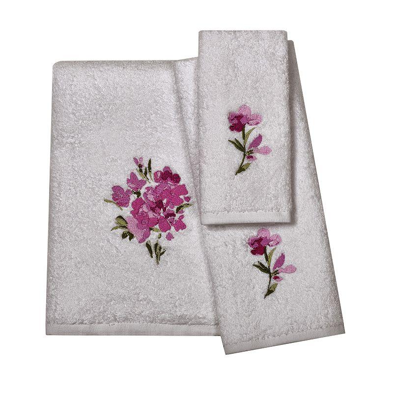 India Ink Watercolor Floral Bath Towels