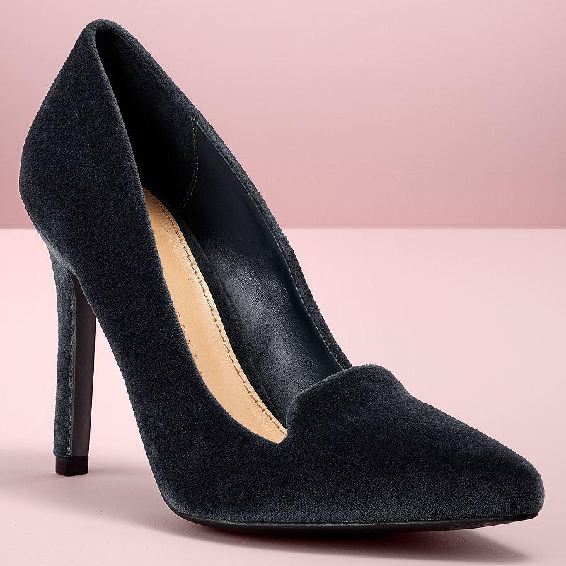 LC Lauren Conrad Runway Collection Velvet Women's High Heels