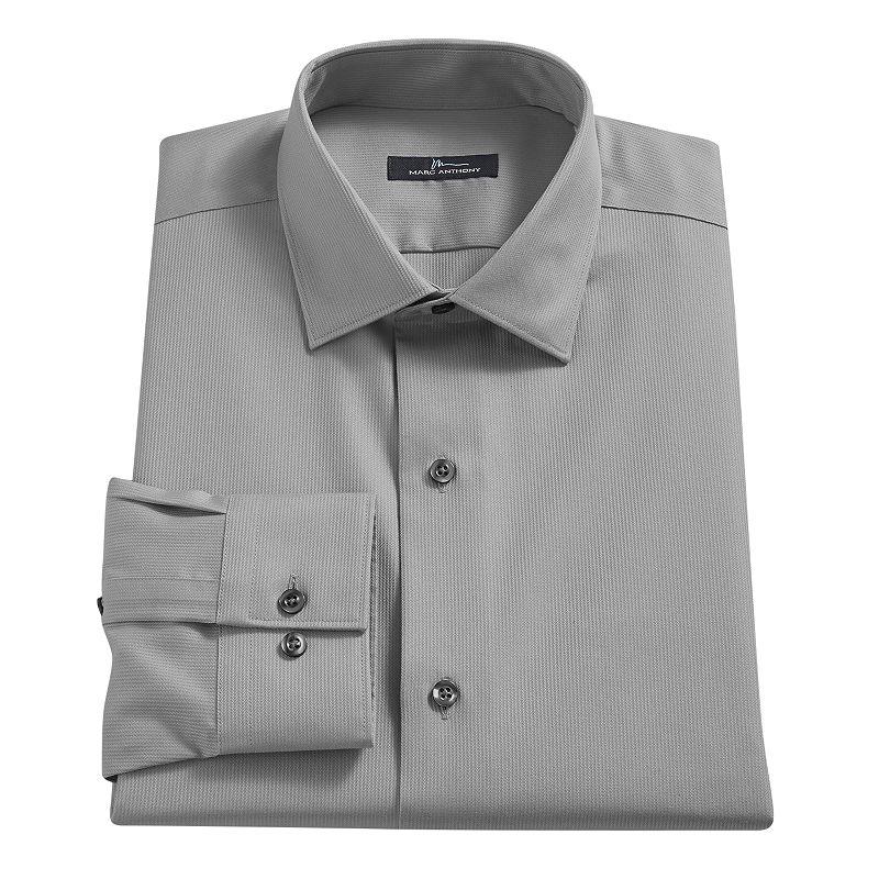 Men's Marc Anthony Slim-Fit No-Iron Spread-Collar Dress Shirt