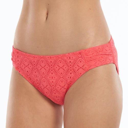 Women's Apt. 9® Crochet Shirred Side Bikini Bottoms