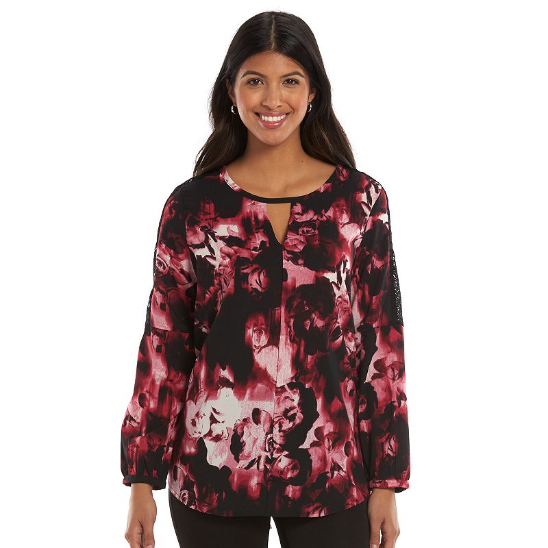 Harve Benard Floral Georgette Top - Women's