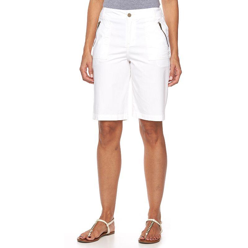 Women's Caribbean Joe Zipper Pocket Bermuda Shorts