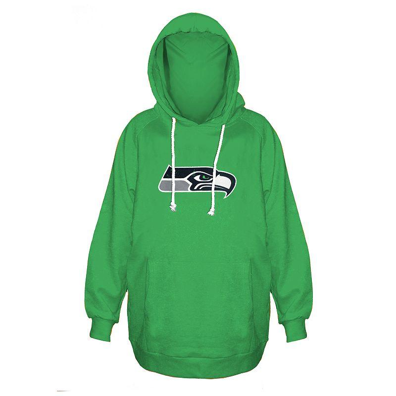 Plus Size Majestic Seattle Seahawks Green Hoodie