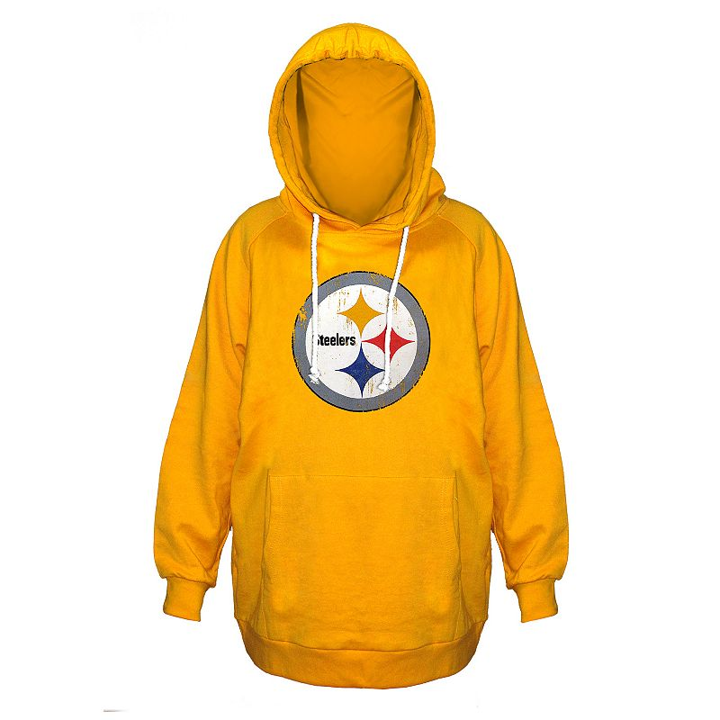 Plus Size Majestic Pittsburgh Steelers Gold Hoodie