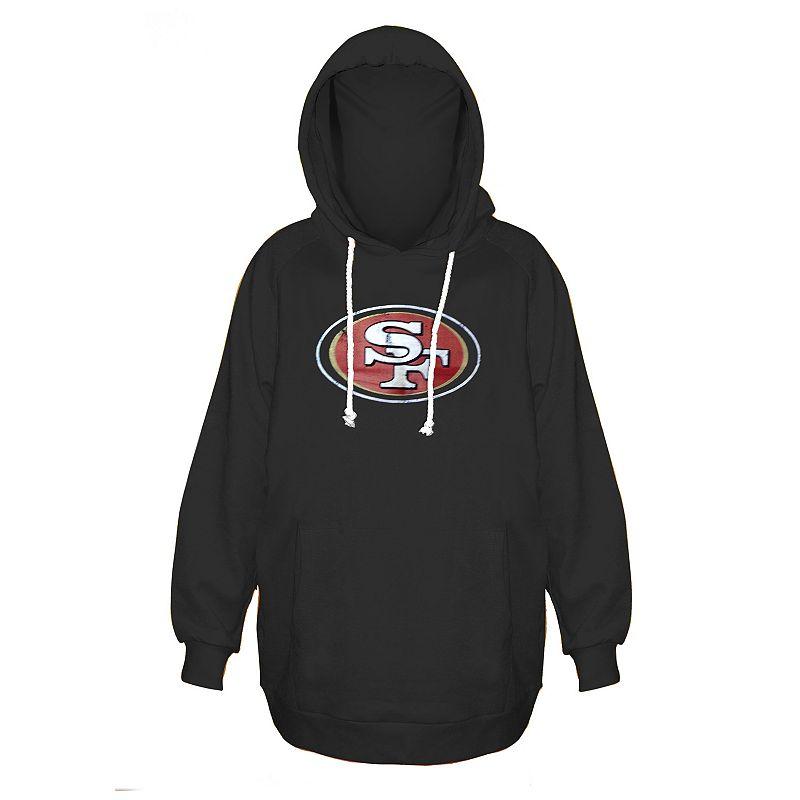 Plus Size Majestic San Francisco 49ers Black Hoodie