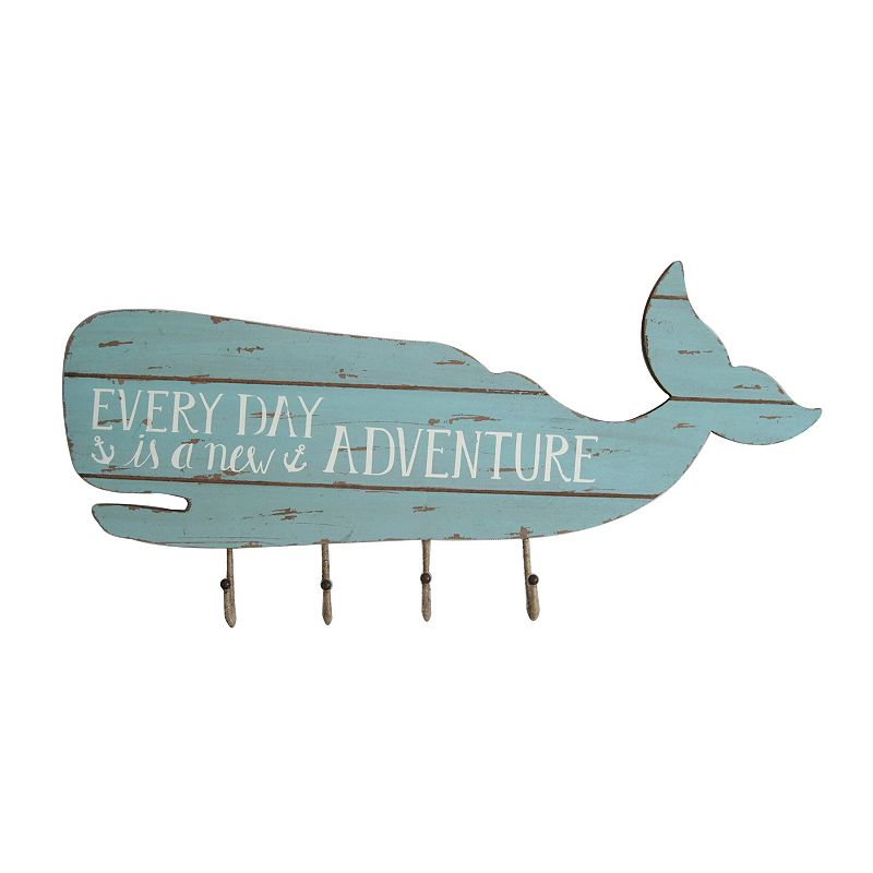SONOMA Goods for Life™ Whale 4-Hook Wall Decor