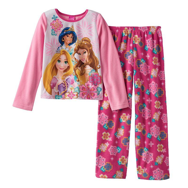 Disney Princess Floral Fleece Pajama Set - Girls 4-10